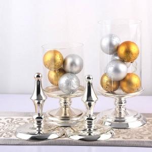 50cm hohes Glas Bonbonglas Europäische Qualitätsmetallspeicher können Hochzeitsbanketttischdekorationbehälter-Nahrungsmittellagerungsflasche