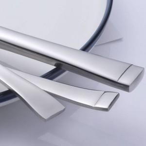 5 Stücke Edelstahl Besteck Set Square Edge Service für Messer Gabel Löffel Geschirr 5 teile / satz Geschirr Hohe Qualität
