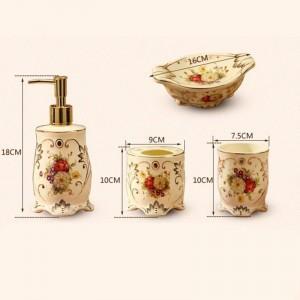 5 stücke Mode keramik badezimmer set bad liefert dental tasse pinsel seifenschale zahnbürstenhalter hochzeitsdekoration