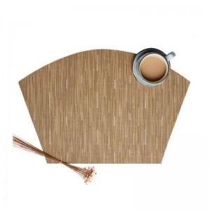 6 teile / satz fächerförmiges Design Tisch PVC Isolation Pad Rutschfeste Tischset Küche Zubehör Dekoration Home Pad Coaster Tischsets