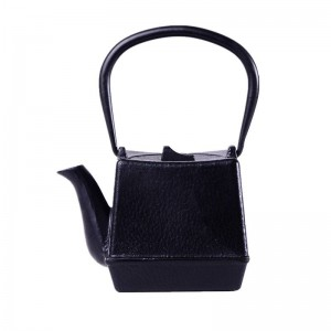 750ml Quadratisch Gusseisen Teekanne Set Japanische Teekanne Wasserkocher Mit Metallnetz Filter 750ml Kung Fu Teekannen Authentisch
