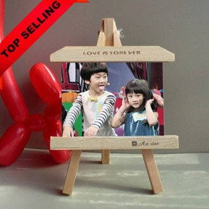 7-Zoll-Holzrahmen Staffelei kreative personalisierte Fotorahmen Produkt Schieferrahmen Schaukeln Dekoration Kinder Geschenk