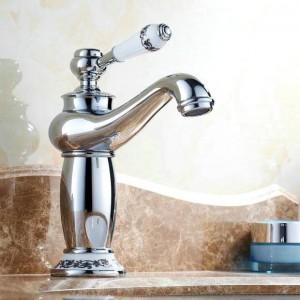"""8 """"Chrom Armaturen Waschbecken Waschbecken Porzellan Messing Wasserhahn Mischbatterie 9031Cp"""
