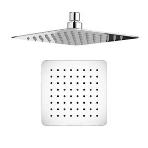 """8 """"Square Mixer Ultra Thin Thermostat-Duschkopf-Set mit Chrom-Massagedüsen für das Badezimmer"""