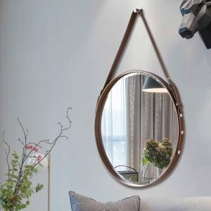A1 Gürtel badezimmerspiegel wandbehang dekorative spiegel hotel badezimmerspiegel restaurant wandkunst runde hängenden spiegel wx8281346
