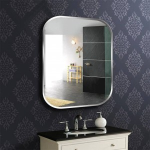 A1 Rahmenlose quadratische Bad Wandspiegel WC Schminktisch Waschbecken Spiegel Schlafzimmer Wandbehang Glasspiegel wx8230936