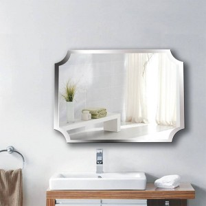 A1 Einfache rahmenlose innere ecke badezimmerspiegel wandbehang bad wc make-up dressing paste hängenden spiegel wx8221858