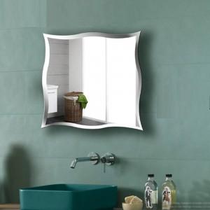 A1 Rahmenloser Badezimmerspiegel zur Wandmontage mit personalisierten Wandaufklebern für den Toilettendressierspiegel wx8231015