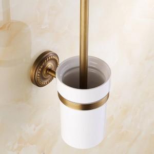 Badaccessoires der AB1-Serie aus antikem Messing Toilettenbürstenhalter mit Becherset An der Wand befestigte Sanitärartikel 7008A