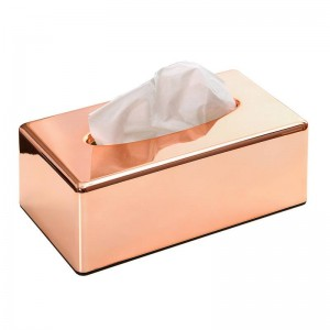 ABS Beschichtung Rose Gold Tissue Box Halter Wohnzimmer Küche Restaurant Toilettenpapier Serviettenhalter Lslak Mendil Kutusu