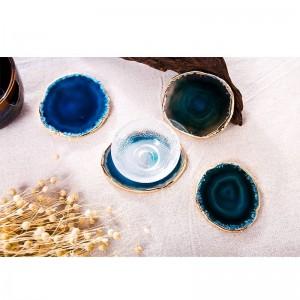 Achat-Untersetzer-Teetasse-Behälter-dekorativer Entwurf Steinuntersetzer