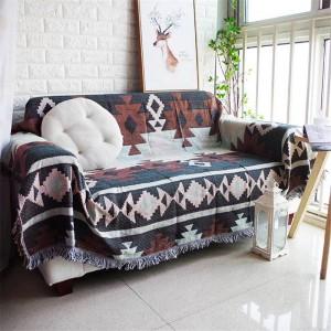 Alle Spiel exotischen Stil Decke Baumwollfaden Sofabezug geometrische Schonbezug Cobertor weiche Decken für Betten Quaste Rand