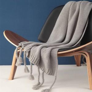 Alle Spiel Nordic gestrickte Decke Thread Decke Bettlaken Klimaanlage Twist Tassel Throw Decken für Betten Sofa Weihnachten
