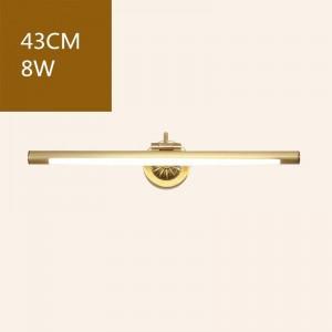 Amerikanischen Kupfer Spiegel Frontleuchten für Bad Wc LED Schrank Lampe Make-Up Hängelampe Home Deco Wandleuchte Leuchte