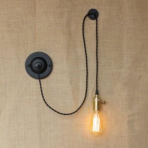 Amerikanischen land DIY kunst kreative wandleuchten vintage Industrielle Wandleuchte mit knopfschalter für schlafzimmer nachtleselicht