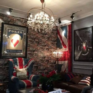 Amerikanisches Land Retro Wohnzimmer Kristall Led Stehleuchte Villa Bekleidungsgeschäft kommerziellen kreativen Vintage Stehleuchte Beleuchtung