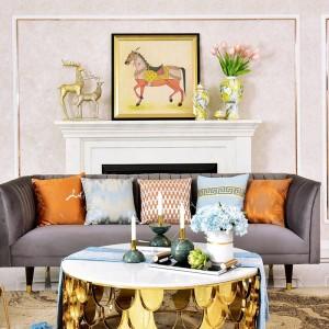 American Luxury Marble Ball Kerzenhalter Dekoration Musterzimmer Tisch Home Candlestick Ornament Geschenk Gaiolas Decorativas