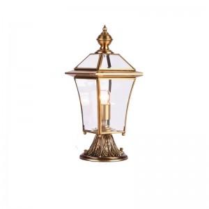 Amerikanischen Stil Alle Kupfer Landschaft Beleuchtung Villa Garten Veranda Lampe Garten Wiese Lampe Outdoor Wasserdichte Beleuchtung