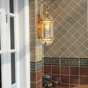 Amerikanischen Stil Kupfer Wandleuchte Im Freien Wasserdichte Balkon Hof Gang Lampen Country Decor wandleuchte Led Arandela