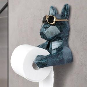 Tierkopf Statue Figur Hängen Taschentuchhalter Toilette Waschraum Wand Wohnkultur Rollenpapier Tissue Box Halter Wandhalterung