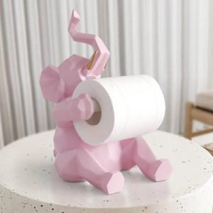 Tier statue Handwerk Dekorationen rollen papierhalter wohnzimmer büro restaurant hängen papier Elefant / hirsch figur wohnkultur