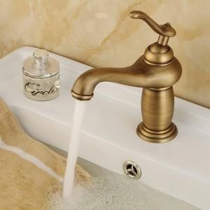 Antike Bronze-Finish Wasserhahn europäischen Stil Alle Kupfer Becken Wasserhahn kalt und warm Dual Use Mischwasserhahn Wasserhahn