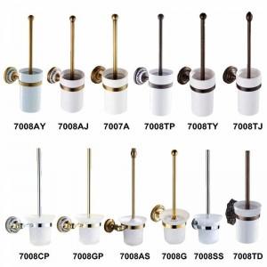 Antike / Goldtoilettenbürstenhalter-Badezimmer-Zusatz-Hardware-Toiletten-Eitelkeit 7008