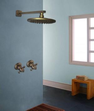 """Antike Wandmontage Dusche Wasserhahn Sets 8 """"Messing Regenduschkopf Einhebel Dusche Mischbatterien Verdeckte Installation Dusche XT391"""