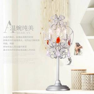 Athena Kristall Kerzenhalter Led Kerzenhalter Pink Crystal Stehlampe für Ankleideraum Bedside Led Hochzeit Tischlampe Abajur