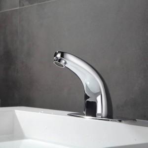 Automatischer aufgeblasener Sensor-Hahn für Badezimmer Wannenwassereinsparung Induktiver elektrischer Wasser-Hahnmischer Freie Berührungen kaltes Wasser HZY-2