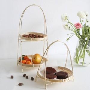 Bambus Weben Weidenkörbe Dish Handmade Home Dekorieren Lagerung Obst Brot Lebensmittel Für Kitchen Organizer Panier Osier