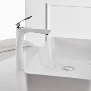 Becken Wasserhahn Bad Waschbecken Mischbatterie Bad Wasserhahn Warm und Kalt Messing verchromt Waschbecken Wasserkran Schwarz Mischer 228