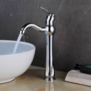 Becken Wasserhahn Hot Cold Mischbatterie Kran Waschbecken Wasserhahn Einhand-Loch Nickel Wasserhahn Waschtisch Deck Vintage Wash LAD-413