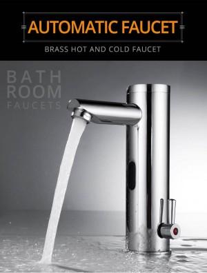 Becken Wasserhahn Sensor Badezimmer Automatische Hände Berührungslose Wassereinsparung Induktive Elektrische Wasserhahn Batterie Wasserhähne XR8804