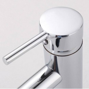 Waschtischarmaturen Messing Chrom Silber Waschbecken Wasserhahn Einhandloch Deckmontage Wc Bad Waschtischmischer Wasserhahn L-1007