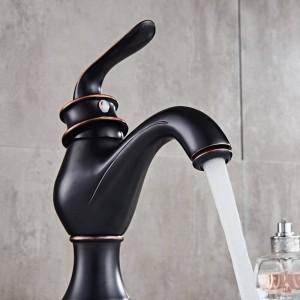 Waschtischarmaturen Messing Gold Waschbecken Wasserhahn Einhebel Bad Waschen Kalt Warmwasser Mischbatterie WC Hahn Banheiro Torneira LAD-18058