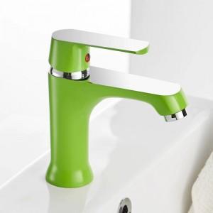 Waschtischarmaturen Elegante Badarmatur Warmes und kaltes Wasser Waschtischmischbatterie Messing verchromt Waschbecken Wasserkran Gold 855738