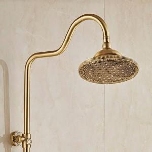 Bad & Dusche Wasserhähne Messing Antik Wand Regendusche Mischbatterien Stil Doppelgriff Badezimmer Dusche Wasserhahn 10128