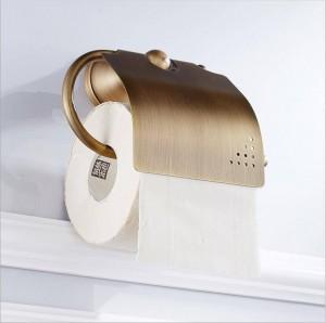 Badzubehör Hardware Bronze Toilette voll Kupfer Europäischen antiken Rollenpapier Handtuchhalter Toilettenpapierhalter 9040K