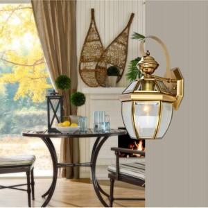 Badezimmer Antik Kupfer wasserdichte Außenwandleuchten LED E27 Lampe Vintage Bronze Wandleuchte Gang Terrasse Schlafzimmer Wandleuchten