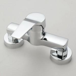 Bad Wasserhahn Badewanne kalt und warm Mischbatterie Wandbrause Wasserhahn
