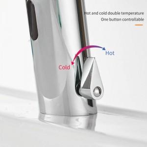 Bad Wasserhahn Wassersparhähne Chrom Berührungslose Heiße und Kalte Mischbatterie Vollautomatische Wasserhahn Infrarot-Sensor Wasserhahn 8021