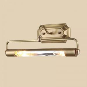 Bad gold spiegel frant licht langrohr antirust wandleuchte für ankleidezimmer projekt schrank wand led spiegelleuchte