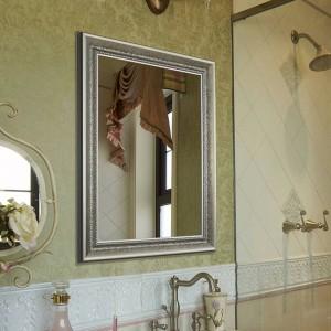 Badezimmerspiegel Retro quadratischer Wandspiegel Schlafzimmer Kosmetikspiegel wx8221416