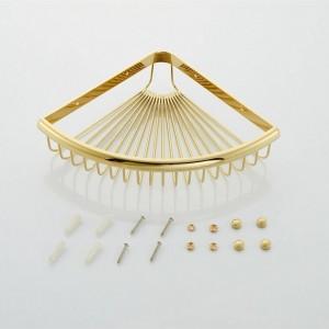Badezimmer-Regale goldenes Messingmaterial mit Badezimmer-Ablagekorb an der Wand befestigtes Badezimmer-Regal Silber 9096K