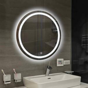 Badezimmer Wand LED Licht Spiegel Runde Wandbehang Waschraum WC Make-up Spiegel Touch-Schalter Weiß warmes Licht mx12151606