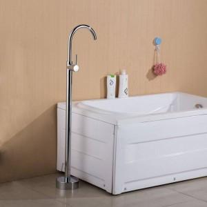 Badewannenarmaturen Antik / Schwarz Bodenmontage Freistehende Badewanne Wasserhahn Duschset Wanne Füllstoff Mischbatterie Für Badezimmer XT379