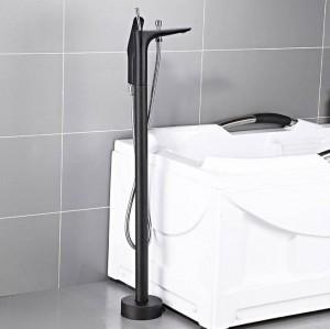 Badewannenarmaturen Chrom Farbe Bodenmontage Freistehende Badewanne Wasserhahn Dusche Set Warmen und Kalten Mischbatterie Für Badezimmer XT402