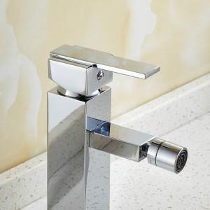 Bidet-Hähne Chrom-Ende Plattform angebrachtes festes Messingbidet-Hahn-Einlochmontage-Einhandfrauen waschen Hahn-Hahn 9097L