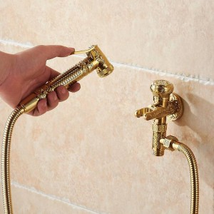 Bidet-Hähne sondern kalten Messingwand-hygienischen Duschsprühkopf für Wäschebadezimmer-Toiletten-Auto-Spülungs-Haustier-Spritzpistole 8891 aus